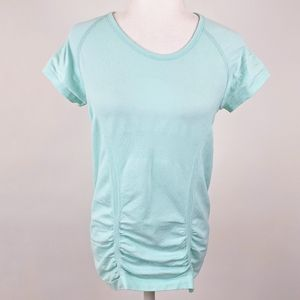 Athleta Fast Track Tee Athletic Workout Top L Blue